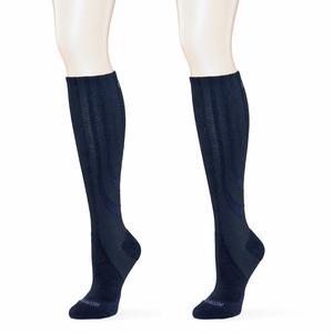 SANKOM Black Compression Knee High Socks (Ladies 11-14)