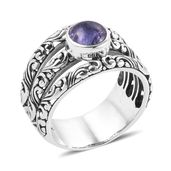 Bali Legacy Collection Tanzanite Sterling Silver Solitaire Split Ring (Size 6.0) TGW 2.39 cts.
