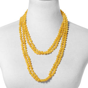 Burmese Yellow Jade Beads Endless Necklace (100 in) TGW 1247.50 cts.