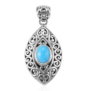 Bali Legacy Collection Arizona Sleeping Beauty Turquoise Sterling Silver Pendant without Chain TGW 1.50 cts.