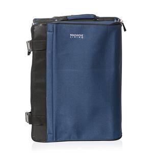 Blue and Black Collapsible Luggage