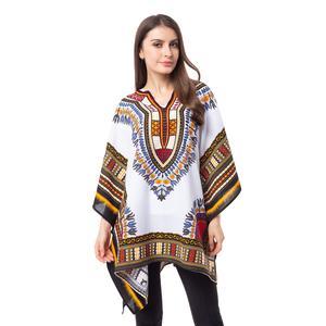 White Africa Addio Pattern 100% Cotton Poncho (41x31 in)