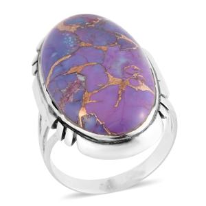 Santa Fe Style Mojave Purple Turquoise Sterling Silver Ring (Size 10.0) TGW 4.50 cts.