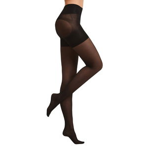 SANKOM-Black Pantyhose with Patented Shaper (Second Skin) Size 1-2
