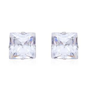 14K WG Simulated White Diamond Stud Earrings TGW 0.75 cts.