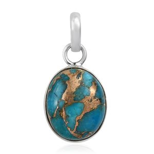 Mojave Blue Turquoise Sterling Silver Pendant without Chain TGW 4.91 cts.