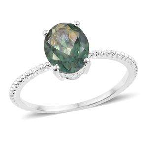 Good Times Mystic Quartz Sterling Silver Solitaire Ring (Size 7.0) TGW 2.35 cts.