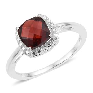 Mozambique Garnet Sterling Silver Solitaire Ring (Size 8.0) TGW 2.90 cts.