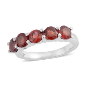 Simulated Red Diamond Sterling Silver Ring (Size 5) TGW 1.000 Cts. TGW 1.00 Cts.