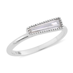 Simulated White Diamond Sterling Silver Ring (Size 6.0) TGW 0.50 cts.