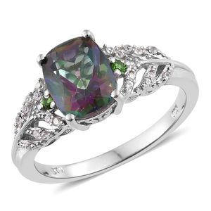 Customer Appreciation DOORBUSTER Northern Lights Mystic Topaz, Multi Gemstone Platinum Over Sterling Silver Ring (Size 6.0) TGW 3.84 cts.