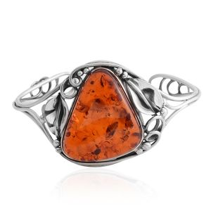 Baltic Amber Sterling Silver Cuff (6 in)