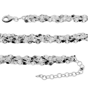 Sterling Silver 7 Layer Disc Chain (18 in)