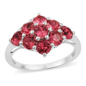 Sterling Silver Ring (Size 7.0) Made with SWAROVSKI Indian Pink Crystal TGW 2.30 cts.