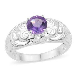 Bolivian Amethyst Sterling Silver Ring (Size 7.0) TGW 1.25 cts.
