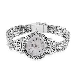 EON 1962 Swiss Movement Water Resistant Ladies Watch in Sterling Silver