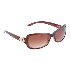 VOX-Brown UV Protected Impact Resistance Fashion Sunglasses with Goldtone Hinge