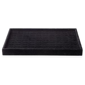 Black Velvet 100 Pieces Ring Box (13.8x9.4x1.3 in)