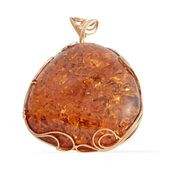 Artisan Crafted Baltic Amber 14K YG Over Sterling Silver Pendant without Chain