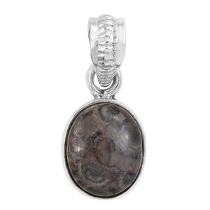 Artisan Crafted Utah Rhyolite Jasper Sterling Silver Pendant without Chain TGW 3.24 cts.