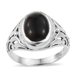 Artisan Crafted Black Onyx Sterling Silver Ring (Size 8.0) TGW 5.54 cts.