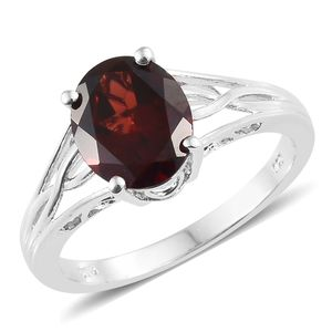 Customer Appreciation Day Mozambique Garnet Platinum Over Sterling Silver Ring (Size 8.0) TGW 4.00 cts.