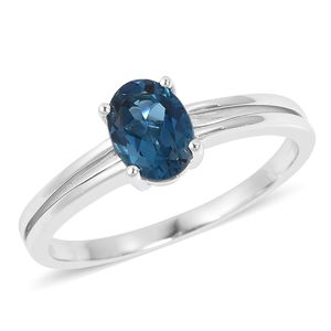 Ankur's Treasure Chest London Blue Topaz Sterling Silver Ring (Size 7.0) TGW 1.45 cts.
