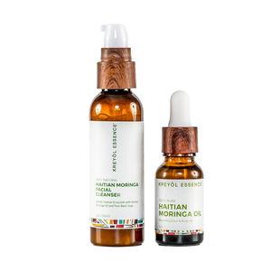 Kreyol Essence Haitian Moringa Oil and Facial Cleanser Duo