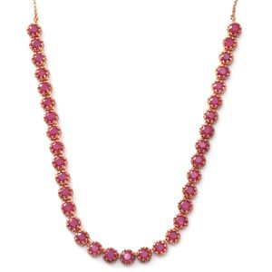 Niassa Ruby 14K RG Over Sterling Silver Necklace (18 in) TGW 35.00 cts.
