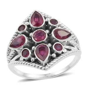 Artisan Crafted Niassa Ruby Sterling Silver Ring (Size 8.0) TGW 2.99 cts.
