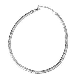 Stainless Steel Herringbone Necklace (20 in)