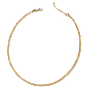 ION Plated YG Stainless Steel Mesh Chain Necklace (20 in)