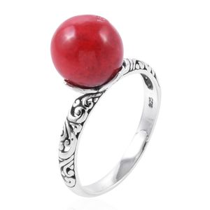 Bali Legacy Collection Sponge Coral Sterling Silver Ring (Size 8.0) TGW 8.00 cts.