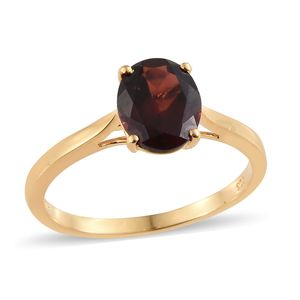 Dan's Jewelry Selection Mozambique Garnet Vermeil YG Over Sterling Silver Solitaire Ring (Size 10.0) TGW 2.75 cts.