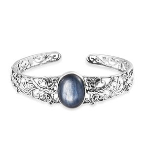 Artisan Crafted Himalayan Kyanite Sterling Silver Cuff (7.25 in) TGW 17.08 cts.