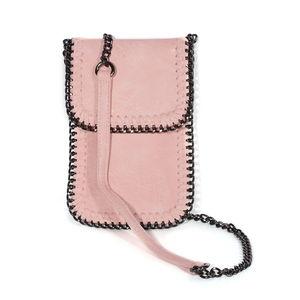 Peach Vegan Leather Crossbody Wallet Bag (7x5 in) 6cd4f6bd0b80d