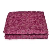 Purple Flower Pattern Microfiber Flannel Printed Blanket (50x60 in)